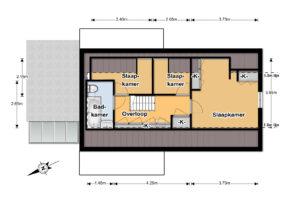 1ste verdieping 2D