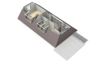 1ste verdieping 3D