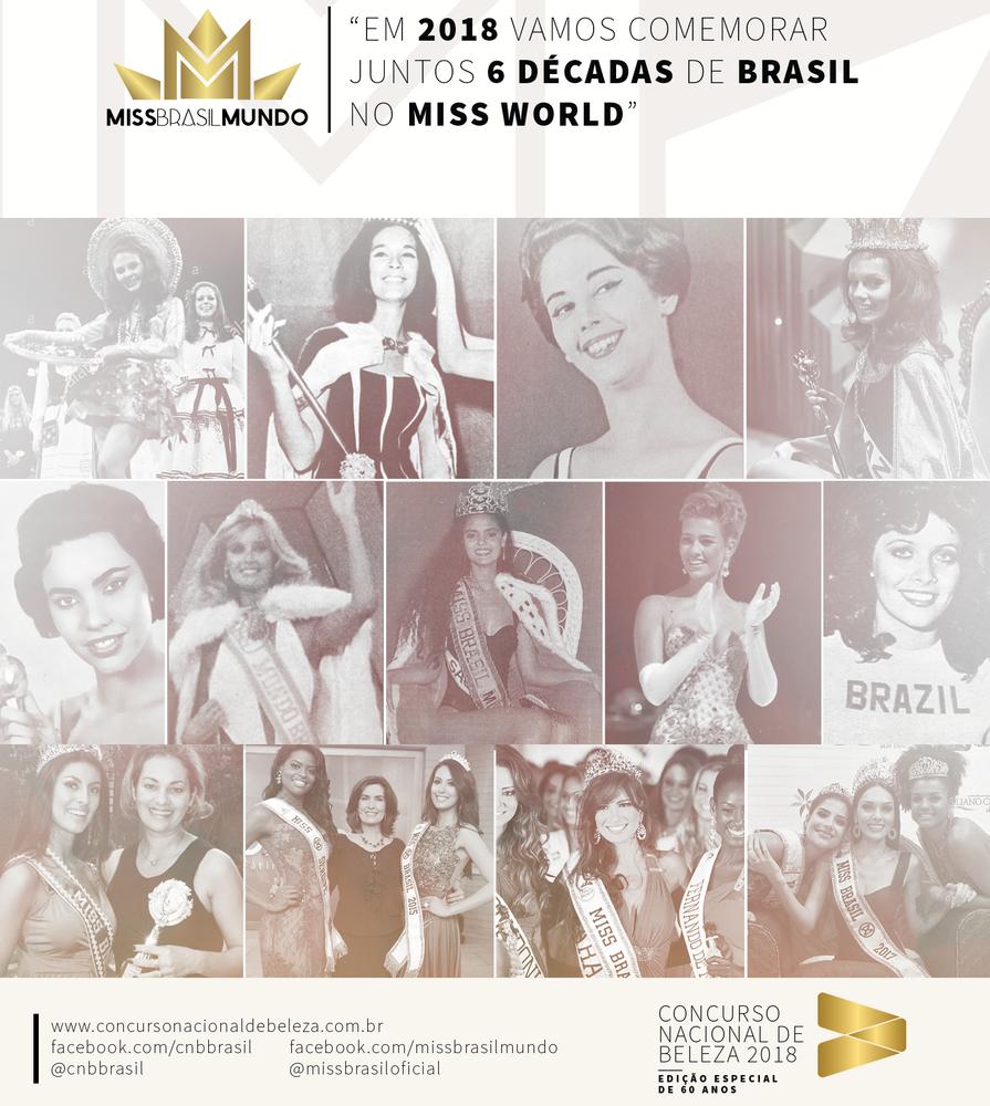 site official de miss world menciona 60 anos de brasil participando de mw. MISS2018