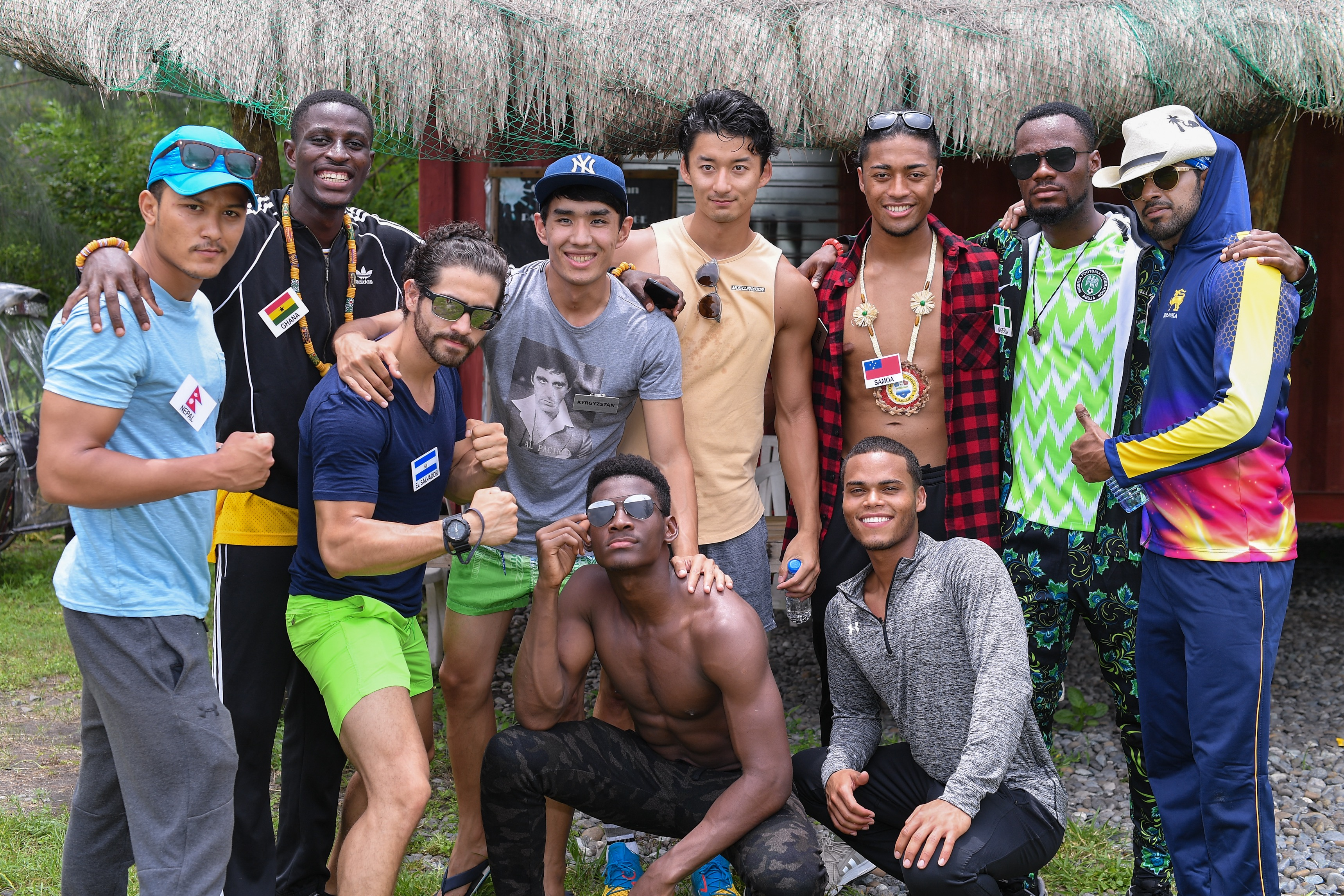 Mr World contestants at Camp Kainomayan