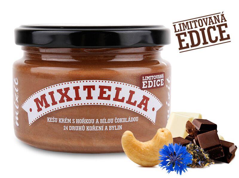 Mixitella - Kešu s hořkou a bílou čokoládou + 24 druhů koření a bylin (3ks)