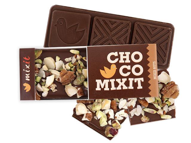 Čokoláda Mini - Mléčná s ořechy (8ks)