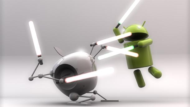 Apples andel af mobilmarkedet falder, Android skyder i vejret