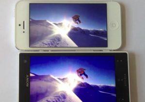Skærmfight: Billige Sony Acro S sætter i den grad dyre iPhone 5 på plads