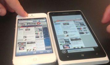 Browserfight: iPhone 5 vs. Nokia Lumia 900 (video)