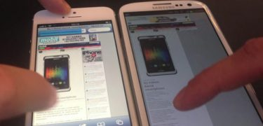 Browser-fight: iPhone 5 vs Samsung Galaxy S III (video)