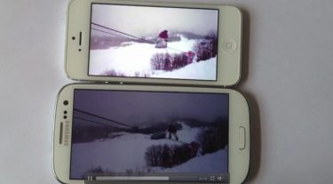 Skærmfight: iPhone 5 vs. Samsung Galaxy S III (opdateret med ny video)