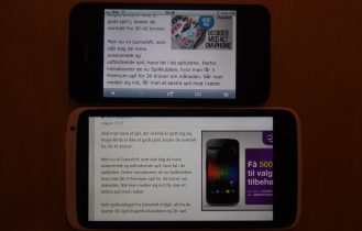 HTC One X versus iPhone 4S – skærm fight