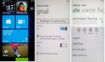 Guide: Sådan bruger du Gmail og Google Kalender i Windows Phone