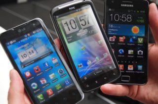 Galleri: HTC Sensation sammen med Galaxy S2 og Optimus 2X