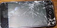 ødelagt mobil