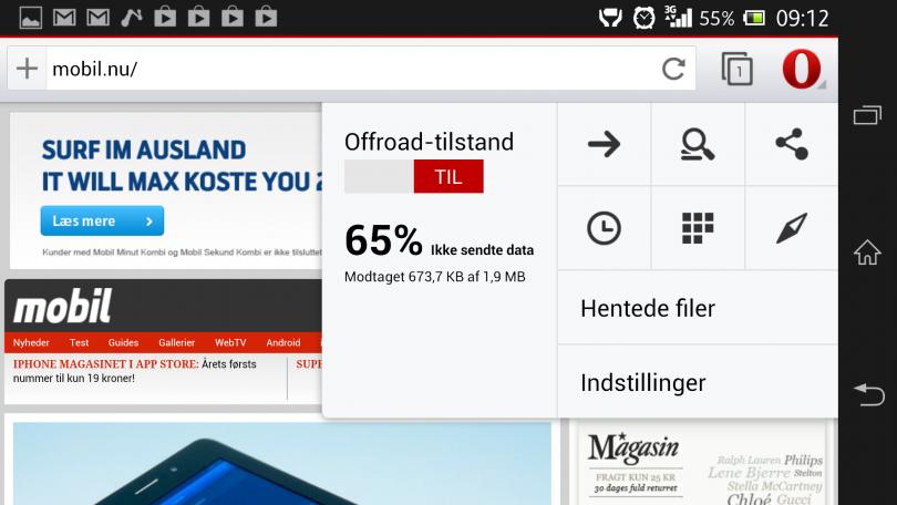 Test: Sådan er den nye Opera-webbrowser til Android