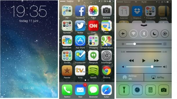 Startskærmen ligner sig selv med mapper, men designet på ikonerne har ændret sig drastisk. Ikke alle ikoner er lige vellykkede, nogle ser decideret barnlige ud, mens andre er rigtig flotte.