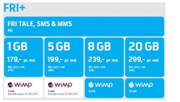 Telenor klar med fri tale, fri sms og mms og gratis WiMP