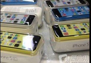 iPhone 5C fanget på billede pakket og klar