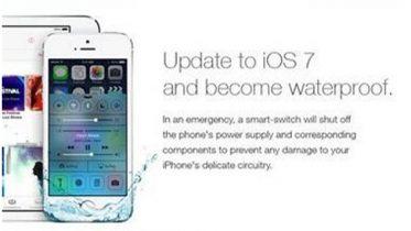 iOS 7 – iPhone-brugere narret til at tro deres iPhone er vandtæt