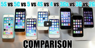 Video: iPhone 5s vs 5c vs 5 vs 4s vs 4 vs 3gs vs 3g vs 2g i hastighedstest