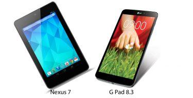 LG G Pad 8.3 vs Google Nexus 7 – spec-fight!