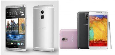 Fight: HTC One Max vs Samsung Galaxy Note 3