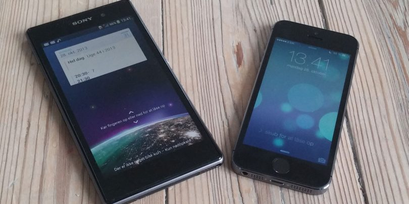Duellen: iPhone 5s vs Sony Xperia Z1