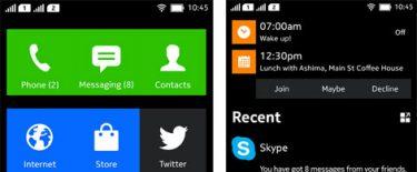 Skærmdumps afslører: Nokias Android-brugerflade designet som Windows Phone