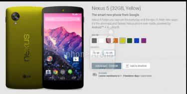 Video afslører: Nexus 5 kan snart komme i flere farver