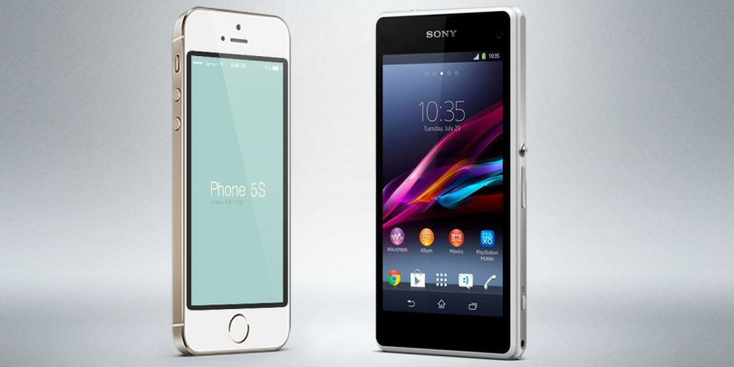 Kæmpe test: Sony Xperia Z1 Compact vs iPhone 5s