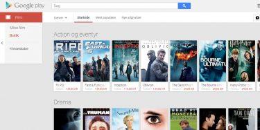 Endelig i Danmark: Lej og køb film i Google Play – men det er dyrt