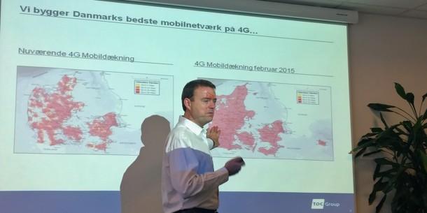 Peter Schleidt fra TDC fortalte sidste år om TDC's planer for udbygning af netværket i Danmark for at sikre bedre mobildækning.