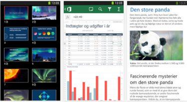 Office gratis til Android – fungerer ikke på tablets