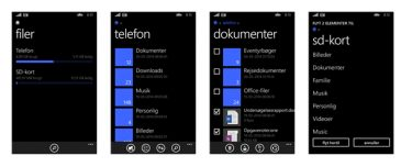 Apptest: Filer til Windows Phone