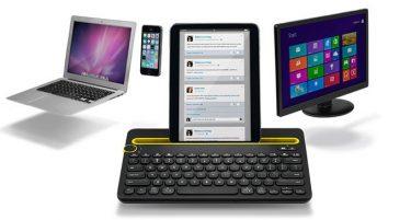 Bluetooth tastatur til computer, tablet og mobil.
