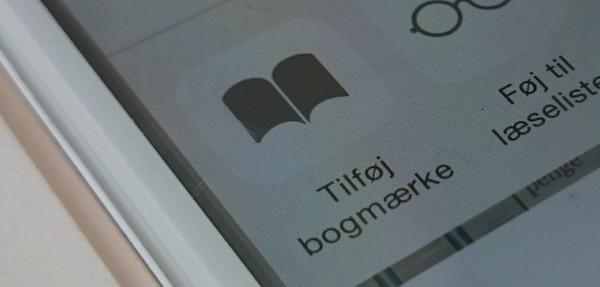 Opret bogmærker i webbrowseren på iPhone (iPhone guide)