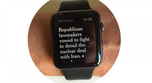 New York Times til Apple Watch (app-test)
