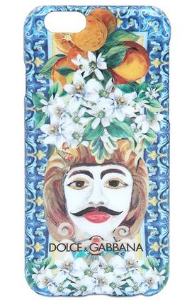 Dolce & Gabbana Face Printed Hard Case