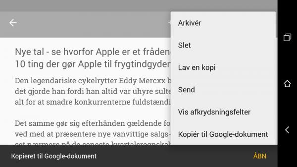 Guide: Eksporter Google Keep til Docs