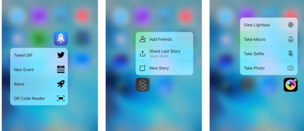 Tredjeparts-apps der understøtter 3D Touch