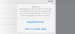 Mail i iOS kan nu sende store vedhæftede filer med Mail Drop
