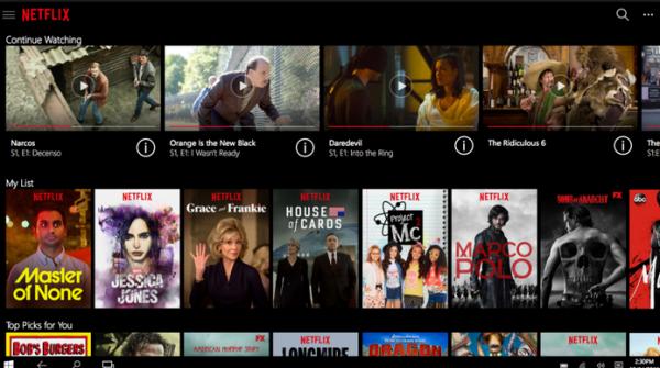 Netflix klar med universal app til Windows 10