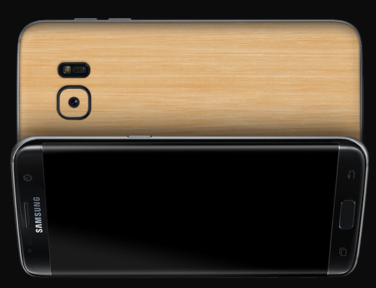 galaxy s7 edge bamboo cover
