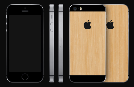 iphone se bamboo cover
