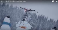 drone med motorsav