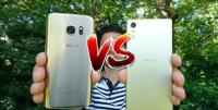 xperia x vs galaxy s7 video kamera fight