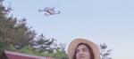 Det sker der hvis en drone lander på dit hoved