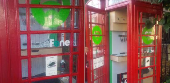 Londons røde telefonbokse bliver til små mobilværksteder