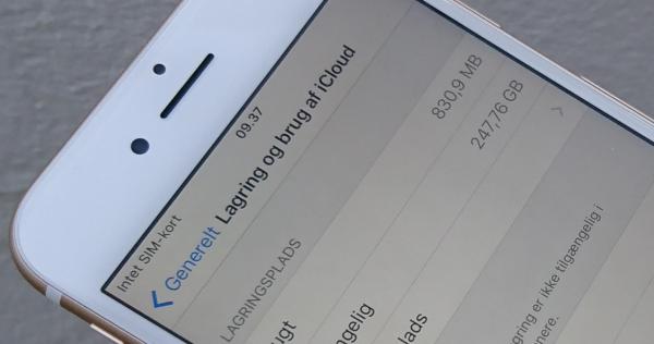 Så meget hukommelse bruger iOS i iPhone 7