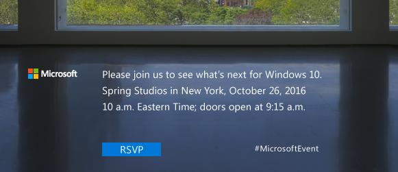 Microsoft inviterer til Windows 10 event den 26. oktober