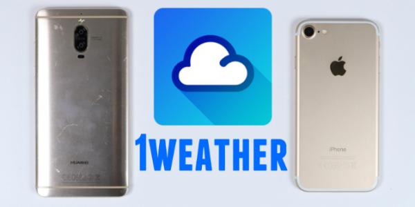 bedste vejr app 1weather -