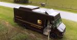 UPS tester levering af pakker med droner fra fragtbiler