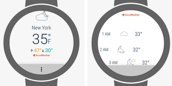accuweather android wear 2.0